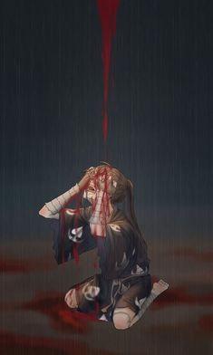 Anime Angel Girl, Sad Anime Girl, Anime Guys, Manga Art, Anime Manga, Anime Art, Chica Angel Animé, Anime Triste, Animes Yandere