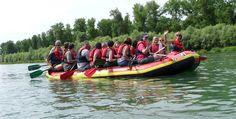 Raftingtour auf dem Altrhein in Istein Raum Freiburg #Abenteuer #Boote #Bootsfahrt