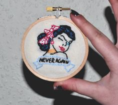 The X Files 'Never Again' Tattoo Embroidery Hoop