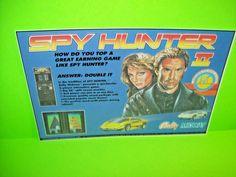 Bally Midway SPY HUNTER II Original NOS 1986 Video Arcade Game Flyer Electrocoin #ElectrocoinAutomaticsBallyMidway