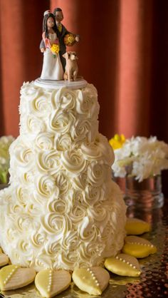 Wedding cake and topper :)