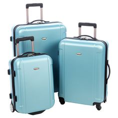 3-Piece Freedom Rolling Luggage Set in Blue