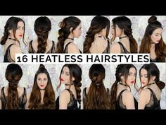 16 Braided Heatless Hairstyles You Need to Try - YouTube