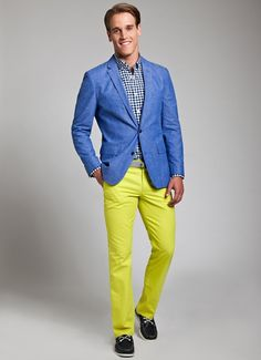 Alberto Bennett - H&M Shorts Men, H&M Shirt, H&M Blazer - Yellow ...