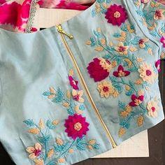 Fancy Dress Design, Stylish Blouse Design, Kids Blouse Designs, Saree Blouse Neck Designs, Kurti Embroidery Design, Embroidery On Kurtis, Maggam Work Designs, Kalamkari Dresses, Neck Designs For Suits