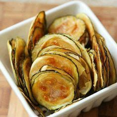 Zucchini Oven Chips - use non-dairy milk for vegan happiness