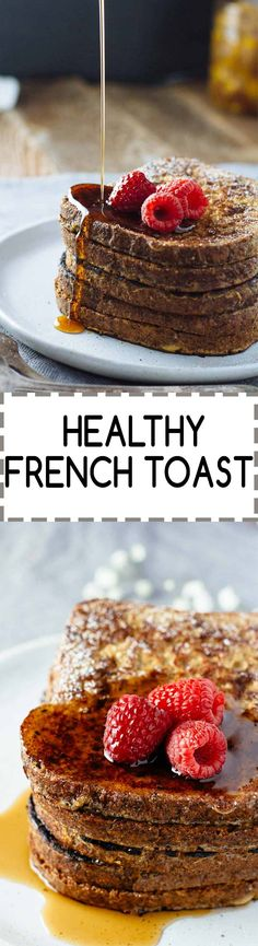 Healthy French Toast! Perfect for weekend brunch! :)