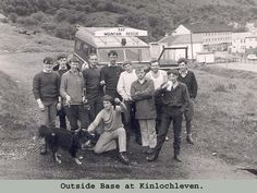 KMRT at Kinlochewe circa 1973. In here~Bob Gray, Ian Wheater, Pete Conway, Evo Everhard, Hammy Anderson, Alan Dixon, John Little, Davey Foy, Paddy Allen, ? , Hammy's dog & Bob Rankin.