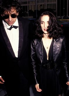 Tim Burton and Winona Ryder, 1991.