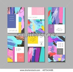 set of artistic creative universal cards. design for poster card invitation placard brochure flyer. Magazin Design, Texture Vector, Grafik Design, Name Cards, Free Vector Art, Graphic Design Inspiration, Business Card Design, Invitation Design, Textured Background