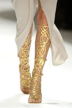 Earth-friendly Gold High Heels #gold #heels www.loveitsomuch.com