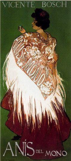 Poster by Ramón Casas (1866-1932), 1898,  Anís del Mono.