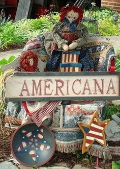 DIY Project:  Show your pride in America with Americana decor in your landscape