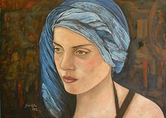 Girl with turban by Giosi Costan