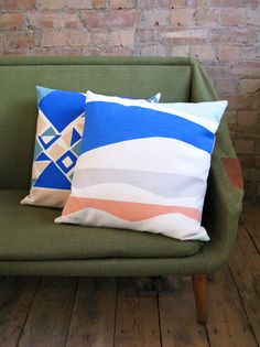 Tamasyn Gambell X Førest London Collaboration Spring 2015 | Facet and Curves cushions
