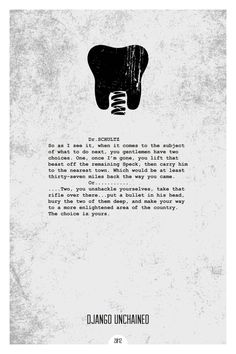 Django Unchained (2012) ~ Minimal Movie Quote Poster by Dope Prints #amusementphile