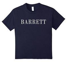 Kids Funny BARRETT Name T-Shirt For Boys and Men 4 Navy B... https://www.amazon.com/dp/B075PZV52X/ref=cm_sw_r_pi_dp_x_13f5zbHJ2X1CP
