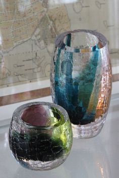 Crackle series by Master Glassblower Kari Alakoski. Mouth blown and handmade at the Glass studio Mafka&Alakoski located in Riihimäki, Finland.