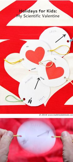 Printable Valentines cards with a scientific twist....hint it's an optical illusion...