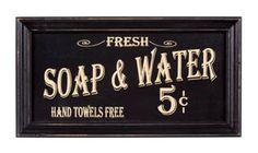 Vintage Look- Bath Advertising Framed Sign