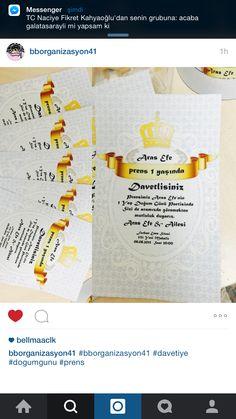 Prens temalı doğumgününe ait davetiyelerimiz..