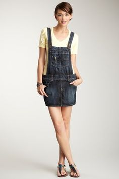 Overall Skirt, for easy access to the toilet when your hands are dirty from working in the potato fields all day!