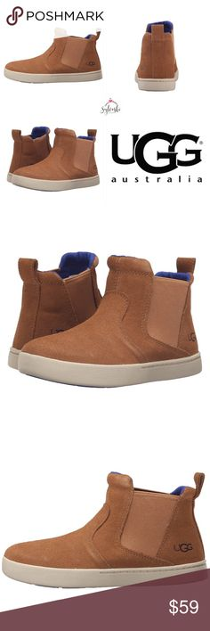 🆕UGG Big Kids Hamden Create the ultimate cool kid look with the Hamden shoe by UGG® Kids. Soft suede upper. Soft canvas lining. Cushioning EVA lined insole with 7mm curly UGGpure™ wool. Molded rubber outsole with tread for added traction. Imported. UGG Shoes