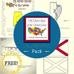 US State Study of the Week Weekly Series FREE Alabama Pack - Enchanted Homeschooling Mom