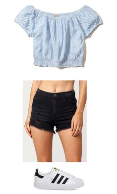 """""""Simple"""" by aliah1202 on Polyvore featuring Almost Famous, Hollister Co. and adidas"""