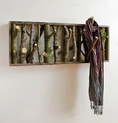 Intriguing woodsy coat rack from sustainable living on FB
