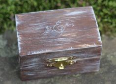 Wedding Ring Pillow Box Wedding Ring Bearer Box by MichelesCottage
