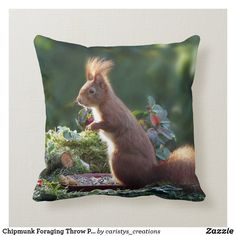 Chipmunks, Nursery Room, Custom Pillows, Your Design, Cottage, Patio, Throw Pillows, Make It Yourself, Knitting