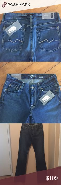 ✨NWT✨7 Seven For All Mankind Kimmie Bootcut Jeans ✔️ New with all tags & sticker ✔️ Size 28 ✔️ Style AU0156951 ✔️ Color CRCO ✔️ Cut 019051 ✔️ Material  98% Cotton 2% Spandex ✔️ Made in USA! ✔️ Machine Wash / Tumble Dry ✔️ Minimalist Wardrobe! Capsule Clothing Fall or Spring!   ✨✨✨Bundle 2 items & Save!✨✨✨ 7 For All Mankind Jeans Boot Cut