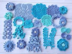 Your place to buy and sell all things handmade Crochet Sunflower, Sunflower Pattern, Crochet Flowers, Blue Crafts, Shabby Flowers, Baby Scrapbook, Crochet Gifts, Scrapbooking Layouts, Floral Motif