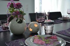 Tischdeko in lila für den Mädelsabend - www.tiziano-design.com