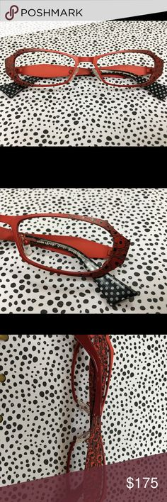 La Font eyeglass frames New handmade La Font eyeglass frames from France! Never worn, only lenses inserted and taken out. Beautiful red color and design. You won't find anything like it! La Font Accessories Glasses