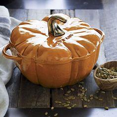 Staub® 3.5 qt. Pumpkin Covered Casserole in Thanksgiving   Crate and Barrel