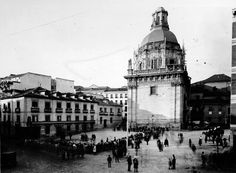 Iglesia de San Andrés y Capilla de San Isidro, posiblemente durante la primera década del siglo XX. Archivo de Moreno Fototeca del Patrimonio Histórico. Ministerio de Cultura.