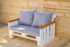 Garden Furniture, Diy Furniture, Outdoor Furniture, Palet Chair, Pallet Projects, Home Projects, Outdoor Chairs, Outdoor Decor, Wood Pallets