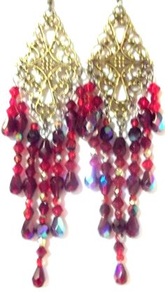 HAND MADE CHANDELIER EARRINGS FREE SHIPPING!!!   Stuff to Buy ...