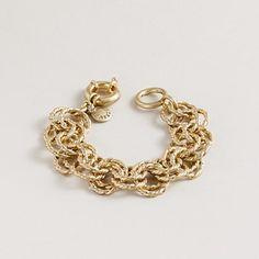 chunky gold bracelet--I want one!!!