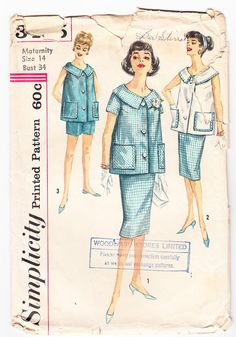 Vintage 1962 Simplicity 3485 Sewing Pattern by SewUniqueClassique, $10.00. Love this pattern. Simple and lovely looking.