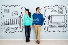Couple dream about life in their new home royalty-free stock photo