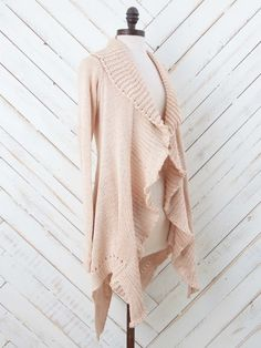 Open Crochet Cardigan