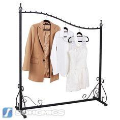 Kleiderständer Kleiderstange Garderobenständer Ladeneinrichtung Schwarz HRA001H