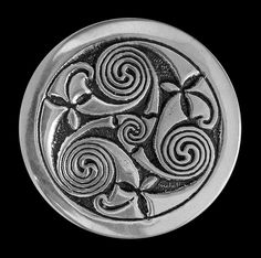 The Triscele was a sacred symbol to the Celtic People. It represents the eternal rhythm of life that we are all a part of. This ancient symbol adorned their most sacred places representing the trinity of life. Most significantly, it represents the Goddess in all her forms ~ Maiden, Mother & Crone.