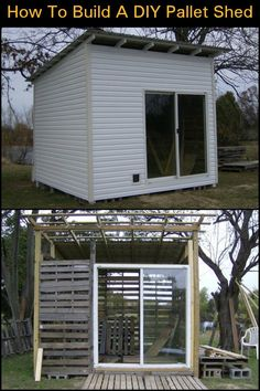 Put those old pallets to good use and turn them into a functional shed!