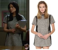 "Elementary fashion and style: What Joan Watson (Lucy Liu) wore in season episode Clade Walking"" Lucy Liu Elementary, Elementary My Dear Watson, Tweed Dress, Get The Look, Fashion Forward, Short Sleeve Dresses, Style Inspiration, Shirt Dress, Outfits"