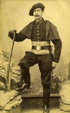 Chasseur Alpin Portrait Meudon France Old CDV Photo Delaporte 1875