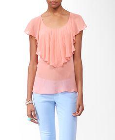 Sheer Ruffled blouse - $15.80